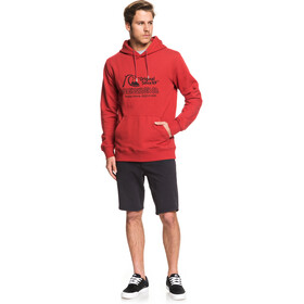 Quiksilver Nelson Sun Screen Fleece Hoodie Heren, garnet